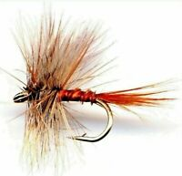 March Brown Biot Fly Fishing Flies - Twelve Flies - Choice of Hook Size