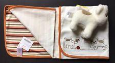 NWT Gymboree My First Pet Bull Dog Striped Baby Blanket & Plush Animal Gift Set