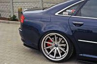 Dachspoiler Ansatz schwarz Heckspoiler Audi A8 4E D3 Spoiler Dach Kanten Aufsatz