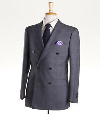 NWT $6200 ATTOLINI Double-Breasted Gray Glen Plaid Wool Suit 38 R (Eu 48)