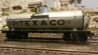 Varney HO Vintage Bay Texaco Tank Car, Sprung Upgraded, Exc.,