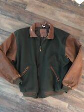 Mens XL Golden Bear Leather Wool Bomber Varsity Jacket Coat