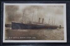 WHITE STAR LINE RMS CELTIC ORIGINAL 1906 PHOTOGRAPHIC LIVERPOOL POST CARD