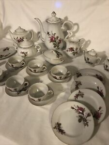 Vintage Childs Tea Set made in Japan Rose ~1950's 26 Piece
