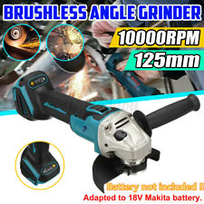 "5"" 125m 10000 RPM Cordless Brushless Angle Grinder For 18V Makita Li-ion Battery"