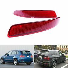 Fit BMW X5 E70 2006-2013 Red Lens Rear Bumper Reflector No Light L+R Pair