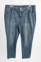 Chico's Women's Jeans 3 Sz 16 XL Blue So Slimming Girlfriend Slim Leg Ankle