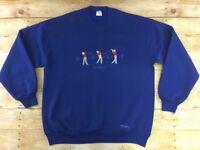 Vtg Crazy Shirts Hawaii Golf Sweatshirt Top Mens XL Crewneck USA 80s 90s Retro