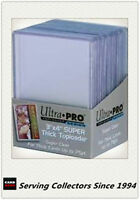 "Ultra Pro 3""x4"" 75 Point NEW Top Loaders Pack Of 25 x 2 -Thick Trading cards"