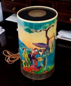 Rare Vintage 1957 Goodman Motion Lamp Asian Geisha  Mt Fuji
