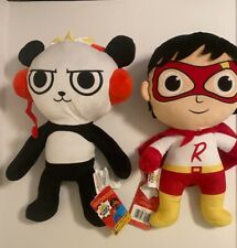 Ryan's World  Red Titan Super Hero & Combo Panda Pillow Buddy Stuff Animal NWT