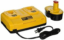 DEWALT DC9320BP 7.2 to 18 Volt NiCd NiMH Li Ion 1 Hr Dual Port Charger + Battery