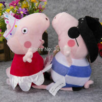 Ballerina Peppa Pig and Pirate George 25cm Plush & Soft Toys (Set of 2)