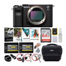 Sony Alpha a7C Full-Frame Mirrorless Camera Body (Black) Essentials Bundle