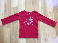 Oshkosh Bgosh 2t girls Christmas tree red shirt Holiday tee top 100% cotton
