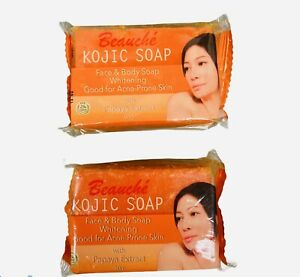 2 x Beauche Skin Care Beauty Bar Face & Body Whitening with papaya extract 90