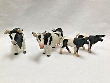 SAFARI Ltd Cow Bull Calf - Farm Animal Figure Jersey Dairy Black White Holstein