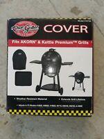 Char-Griller Akorn & Kettle Premium Grill Cover, 6755, Black