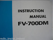 Yaesu fv-700dm (Genuino Manual de instrucciones sólo).............. radio_trader_ireland.