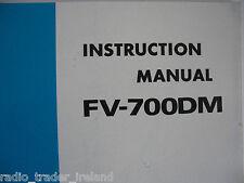 Yaesu fv-700dm (Genuino Manual de instrucciones sólo).............. radio_trader_ireland.