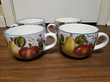 HERITAGE MINT BLACK FOREST FRUITS  DINNERWARE Large Soup Bowls Lot Of 4