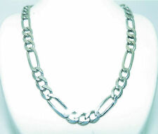 FIGARO DESIGN 19 INCH LONG NECKLACE SOLID .925 STERLING SILVER 20.1 g
