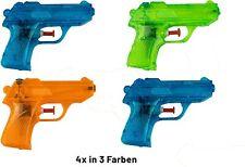Wasserpistole Spielzeug für Kinder | 4 Mini Wasserpistolen mit großer Reichweite
