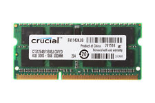 Crucial 4GB 2RX8 PC3-8500S DDR3 1066Mhz SODIMM RAM Laptop Memory intel 204PIN