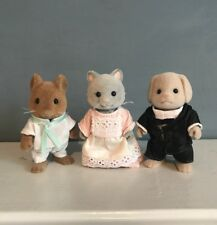 Sylvanian Families Grand/Regency Hotel Staff Figures - Butler,Maid/Cleaner,Chef