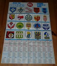 POSTER FOOTBALL 1986-1987 ONZE CALENDRIERS D1 D2 (GROUPE B) ECUSSONS CLUBS