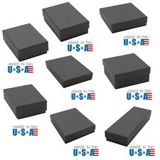 Matte Black Cotton Filled Jewelry Boxes Lots of 100~200~500