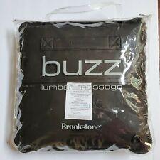 Brookstone Buzz Lumbar Back Massage Pillow Black Travel Bag