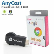 Anycast reproductor de medios TV Stick Hdmi Dongle Push Cromo fundido Miracast WIFI USB