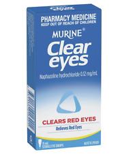 NEW! MURINE CLEAR EYES CLEARS RED EYES 15ML EYE DROPS RELIEVES EYE IRRITATE ^