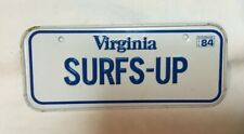 *Vintage Cereal Box Premium Miniature Vanity License Plate Tag 1984 Virginia