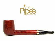 STANWELL Liverpool LARGE BR 34 Estate Pipe w/ Brass S & Crown Inlay - f86