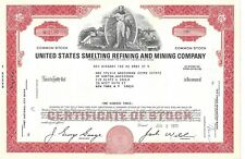 UNITED STATES SMELTING REFINING AND MINING COMPANY....1970 STOCK CERTIFICATE