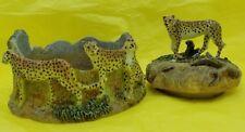 Spotted Leopard Safari Serengeti Candle Jar Topper & Base Big Cat Decor