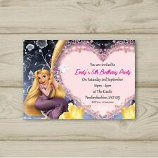 Disney Princess Rapunzel Birthday Party Invitations Personalised