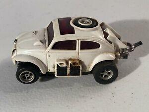 1970's Aurora AFX Slot Car Toy - Baja Bug VW in White