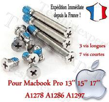 """Pour Apple Macbook pro 13"""" 15"""" 17"""" a1278 a1286 a1297 screws set 10x vis lot"""