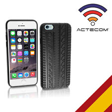 ACTECOM® FUNDA CARCASA SILICONA PARA IPHONE 5C-5 C NEUMATICO NEGRA PROTECTOR