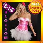 RO Pink Garter Moulin Burlesque Corset Tutu 8 10 12 14