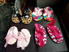 NEW BABY GIRLS BALLERINAS PRAM SHOES NURSERY CANVAS SLIPPERS HOME PARTY PUMPS UK