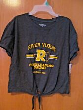 RIVERDALE Cheerleading Squad knotted front Tee~Junior Size XXL (15-17)~NEW w/tag