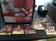 Rare UD Factory Sealed MICHAEL JORDAN TRIBUTE Lunch Box & 1989 NBA STAR SET