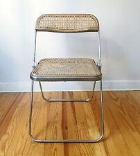 1 chaise cannée pliante Plia design Giancarlo Piretti pour Anonima Castelli 1970