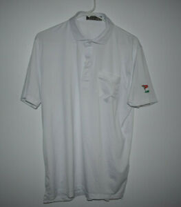 G/Fore Men's Size M White 92% Polyester 8% Spandex LACC Exclusive Pocket Polo