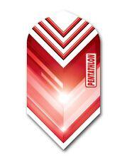 1 Set (3 Flights)  - RED Pentathlon Slim Dart Flights Ex-Tough T1044