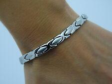 pour dames élégant Complet Bio Magnétique Bracelet Argent